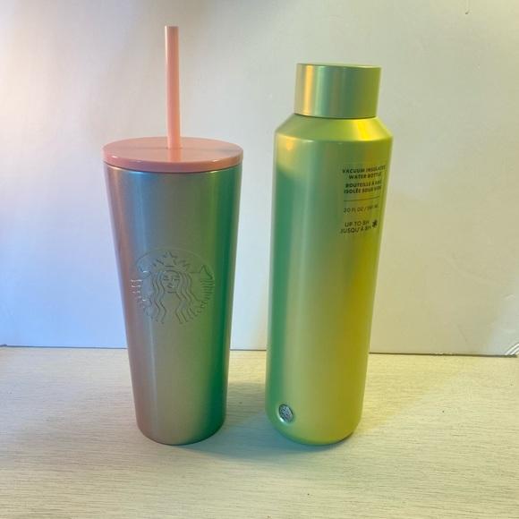 Starbucks pink green glitter bundle NWT